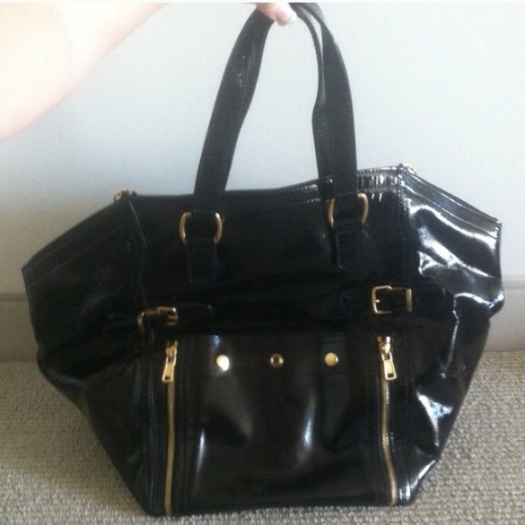 70% off Yves Saint Laurent Handbags - Authentic YSL large patent ...