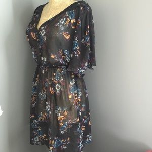 SALE! Sheer Dress black boho