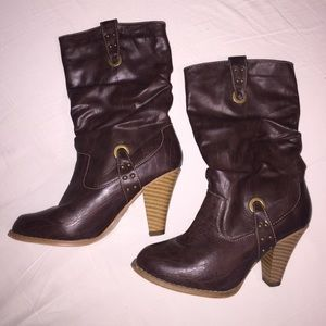 Shoes - Mid Riss Dark Brown Boot