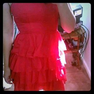 Hot Pink Express strapless dress!