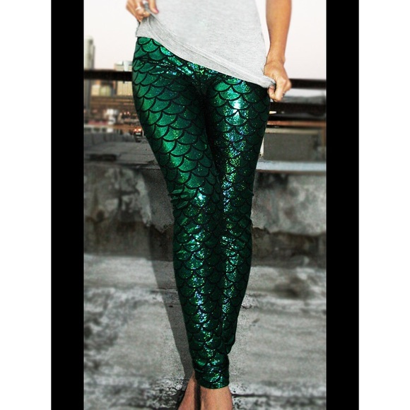 Green Sparkly Leggings Hardon Clothes