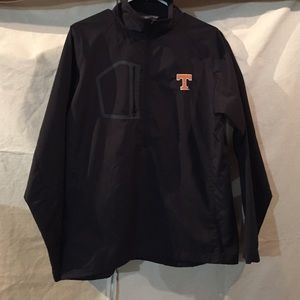 """Tennessee Rain jacket with """"T"""" on chest. Half zip"""