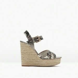 Zara snake printed wedge (2564)