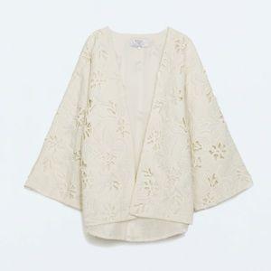 Zara Jackets & Blazers - Zara embroidered kimono jacket