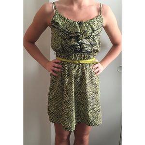 Green and navy  mini dress.