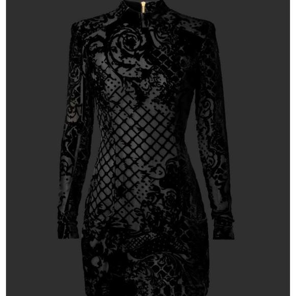 Balmain Dresses Hm Black Dress Poshmark