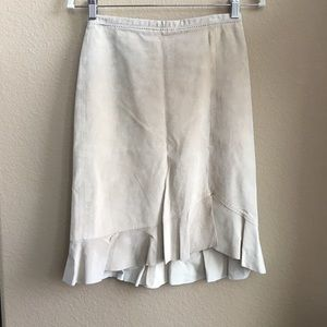BCBG leather skirt