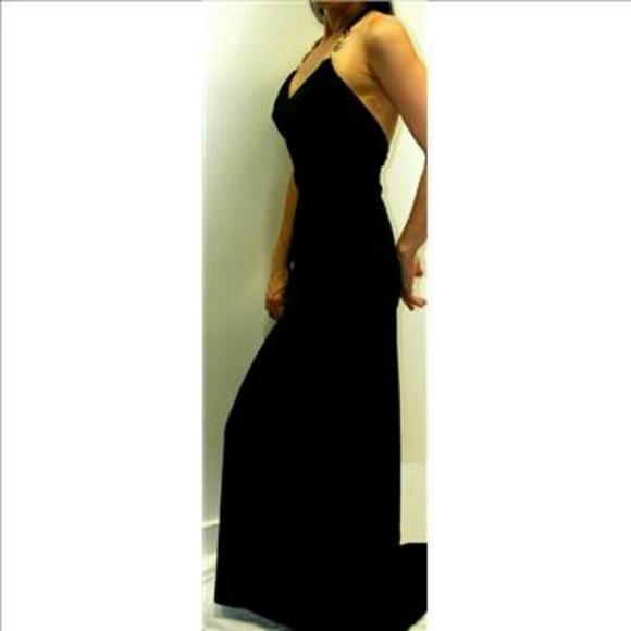 Janine of London Dresses | Janine London Nwt Backless Black Evening ...