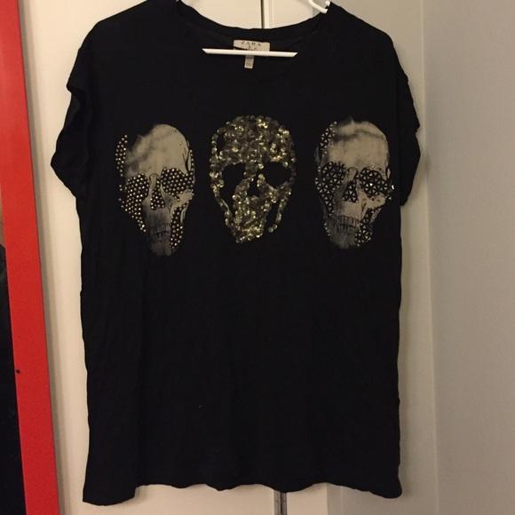 Beaded skull tshirt