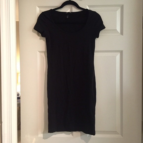 3d4f72891b H M Dresses   Skirts - H M Basic Black Cotton T-Shirt Dress
