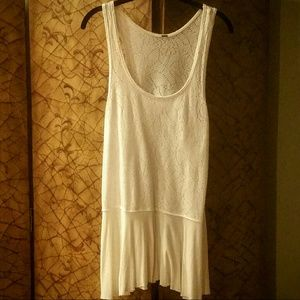 Free People Trapeze Eyelet Lace Tank Top