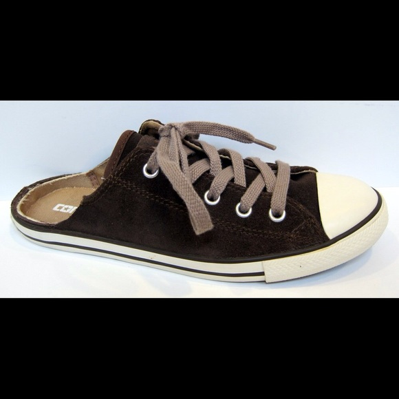 e283e90f4c1e Converse Shoes - Converse Brown Suede Slide Mule Sneaker