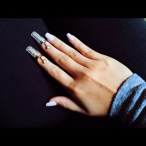 Gold & Silver Nail Rings