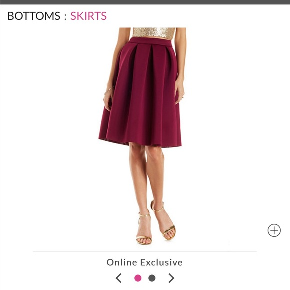 1a5de004fc5 Pleated Scuba Knit full midi skirt with zipper NWT