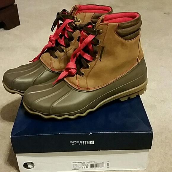 8141f16d096 Sperry Avenue Duck Boots Men's size 11.