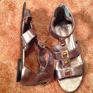 97420052ee9 BCBGeneration Shoes - Silver Egyptian Sandals by BCBG 6 1 2