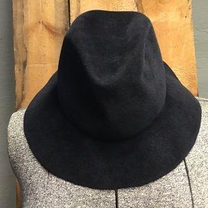 Lola Accessories - Lola Wide Brim Fedora Velvet Hat Black