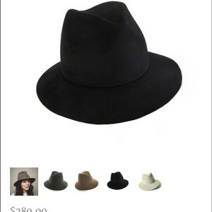 Lola Accessories - Lola Wide Brim Fedora Velvet Hat Black