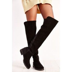 Urban Outfitters Suede Over The Knee Boots
