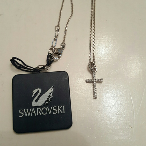d1bcfd3188 Swarovski crystal cross mini pendant necklace. M_563bd1264e674844090017ea