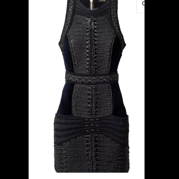 Balmain Dresses X Hm Rope An Velvet Dress Poshmark