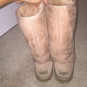UGG Shoes - Size 8 Light Pink Tall Uggs