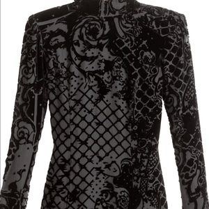 Balmain x H&m Tops - Silk- blend black velvet top
