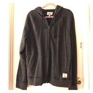 Men's Lucky Brand hooded zip up sweatshirt