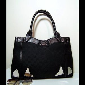Handbags - New Canvas and Faux Leather Bag - Closeout Sale