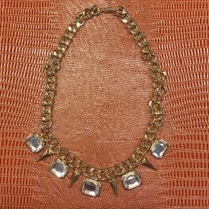 Jewelry - Stone & Spike Gold Necklace