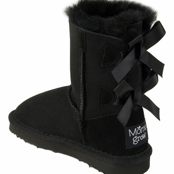 55% off UGG Shoes - NWOT Black Bow Boots Girls Size 12 from ...