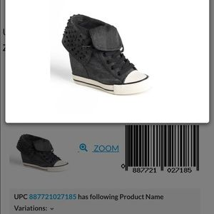 Shoes - Black denim Sneaker wedges