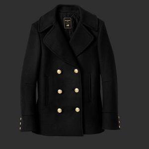 Balmain x H&M Jackets & Blazers - Balmain x H&M Wool-blend Pea Coat