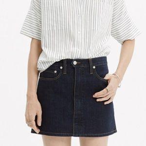 Madewell Denim Zip Skirt