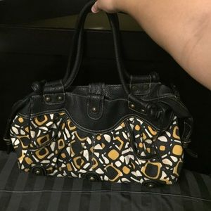 Black and yellow bag from Target