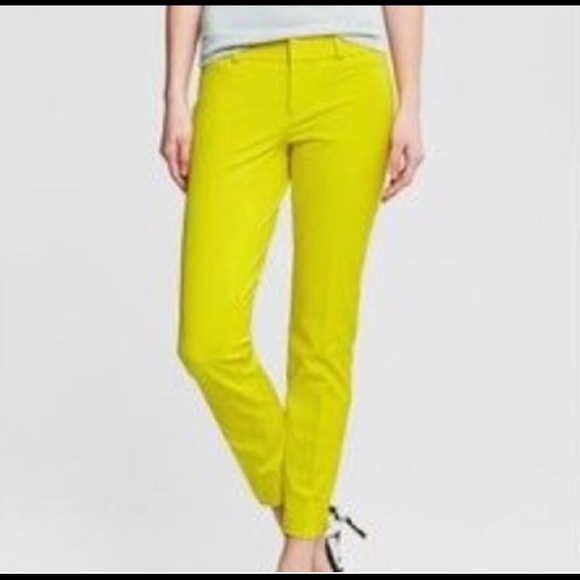 75% off GAP Pants - Yellow Green Gap Slim Crop Pant from Hilary's ...
