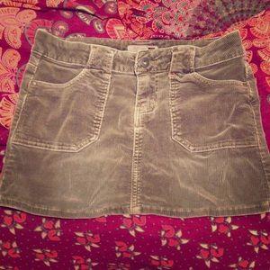 ☄SALE ☄brown corduroy mini skirt