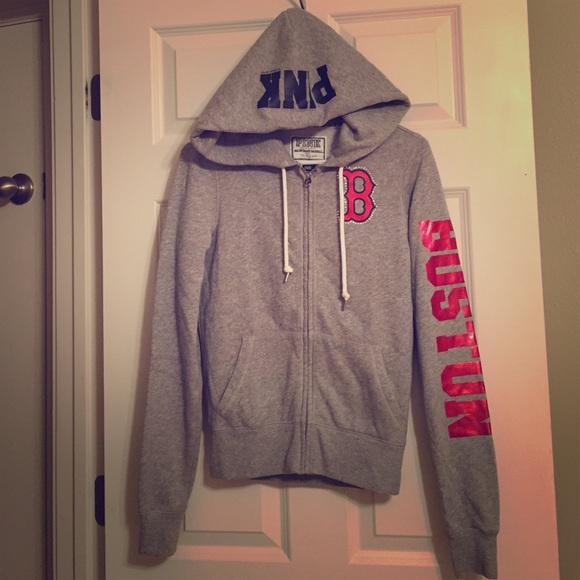 pretty nice ed9d9 9c976 VS PINK Boston Red Sox bling hoodie