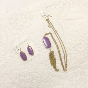 Kendra Scott  Elle Earrings and Rayne Necklace Set