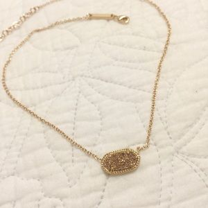 Kendra Scott Elsa Necklace - Rose Gold Druzy