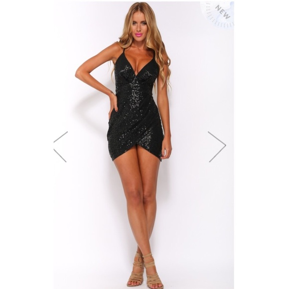 31% off Sabo Skirt Dresses & Skirts - tight black sequin hello ...