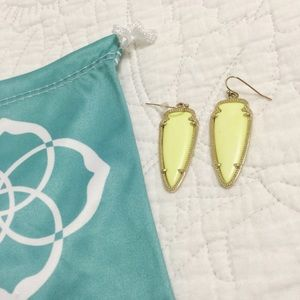 Kendra Scott Sky Earrings in Neon Yellow