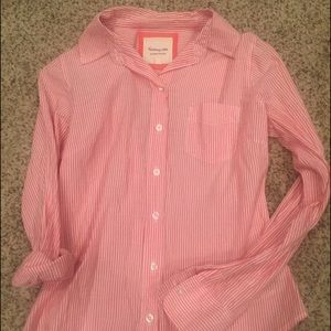 Forever 21 Tops - Pink and white pin striped button down