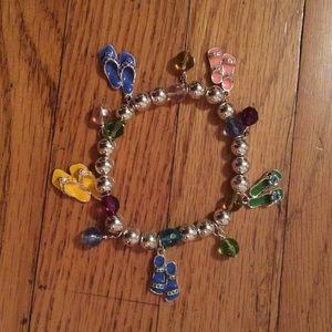 Jewelry - Colorful Beaded Sandal Bracelet