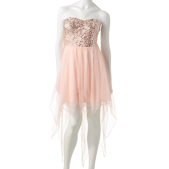 Speechless Dresses | Pink Highlow Sequins Formalprom Dress | Poshmark