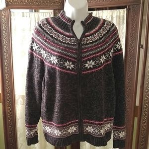 heirloom collectibles Sweaters - Brown knit pattern sweater