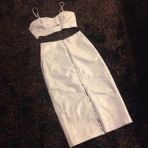 Bardot Dresses & Skirts - Bardot Dove Set- Bandeau & Midi Skirt