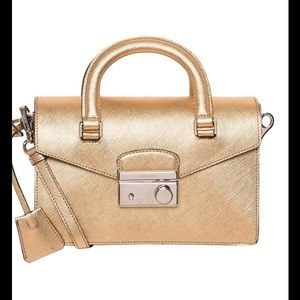 Prada Handbags - HP 10/19 Prada SOUND Saffiano Leather Gold