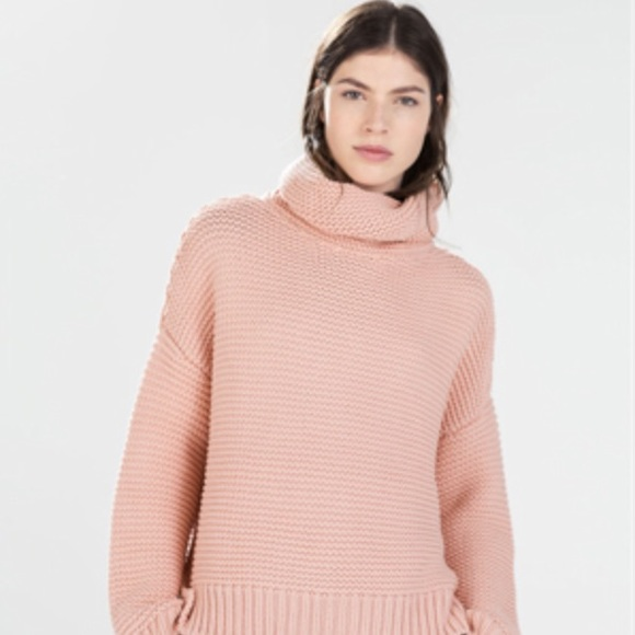 Zara - Zara High Neck Sweater in Peach/Pink from Mandy's closet on ...