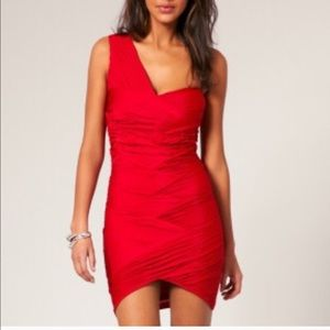 NWT ASOS RED BODYCON DRESS Size 2 Petite